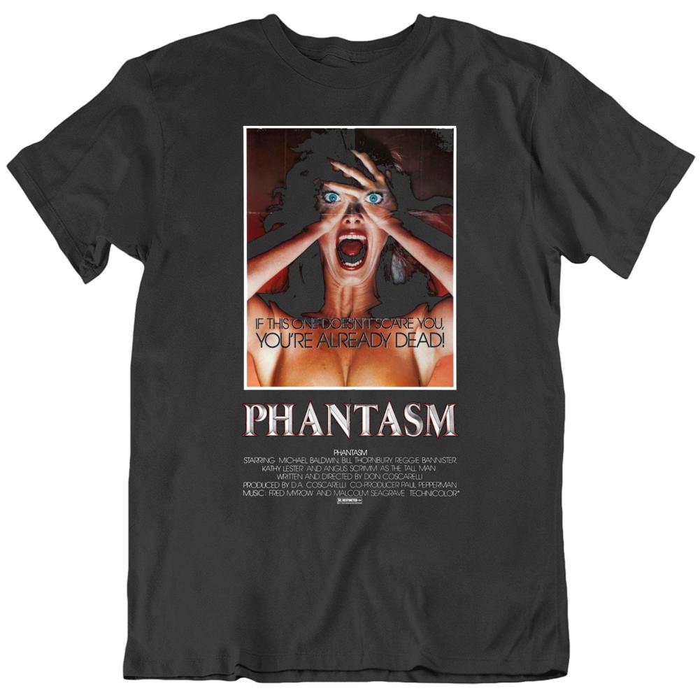 Retro 70's Horror Movie Phantasm Movie Poster Cool Fan T Shirt