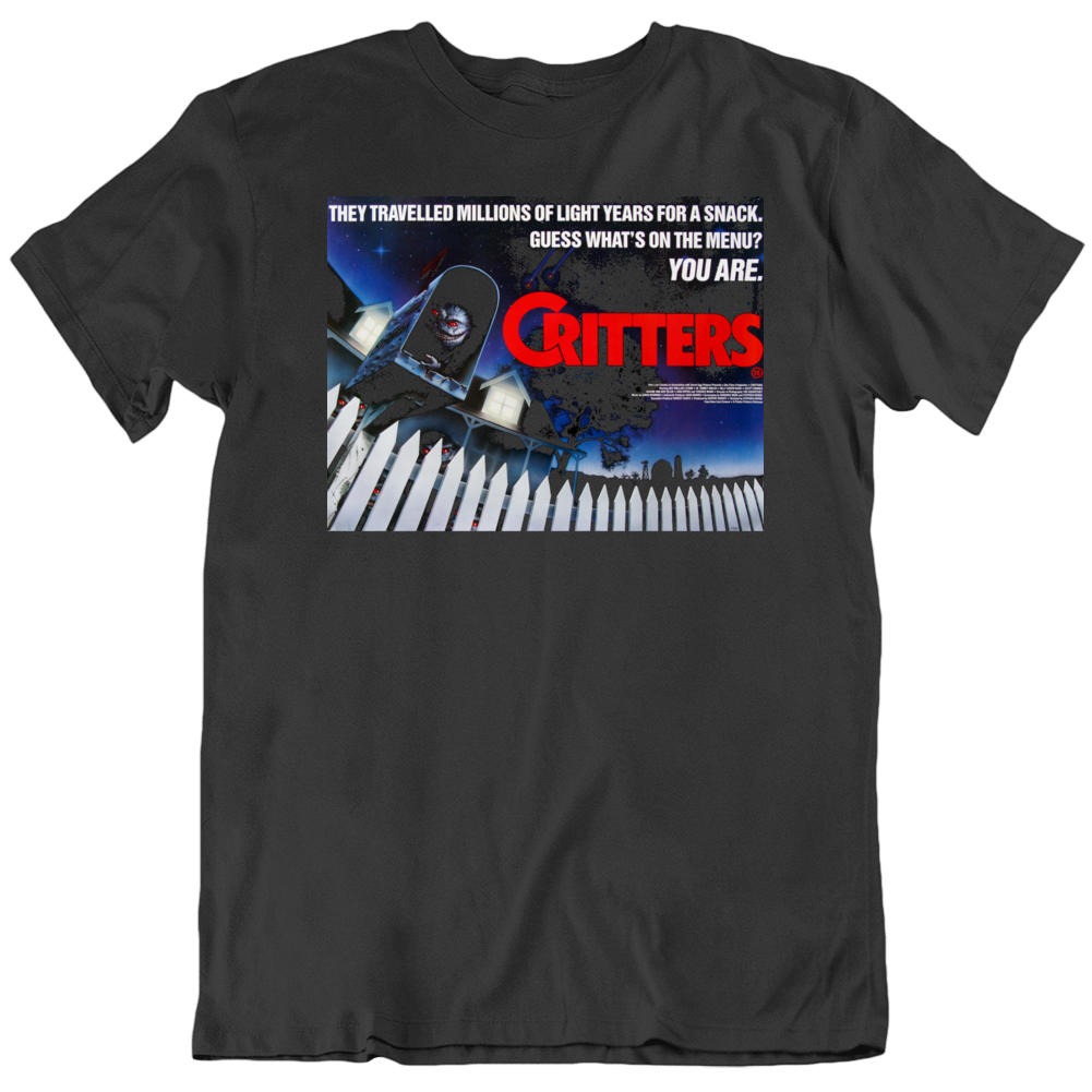 Retro 80's Movie Critters Movie Poster Cool Fan v5 T Shirt