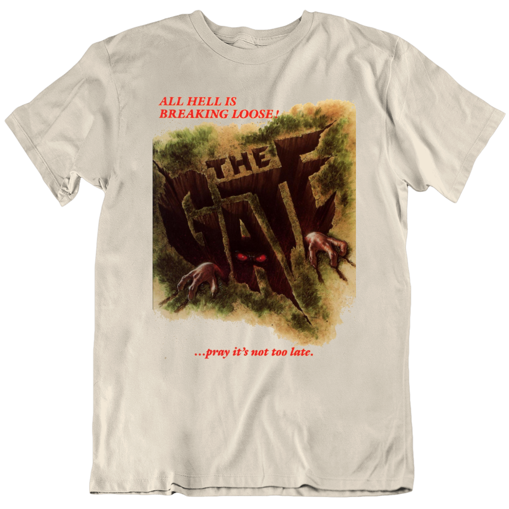 Retro 80's Movie The Gate Movie Poster Cool Fan v3 T Shirt