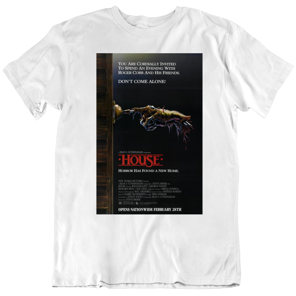 Retro 80's Movie House Movie Poster Cool Fan V2  T Shirt