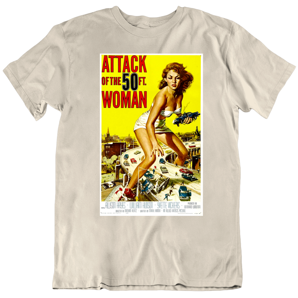Attack of the 50 Foot Woman 1957 Retro Movie Poster T Shirt