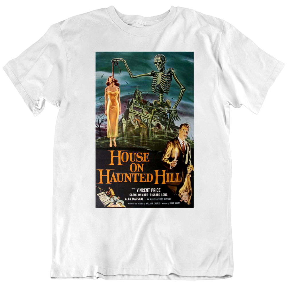 Vincent Price Retro House on Haunted Hill Movie Poster v2 T Shirt