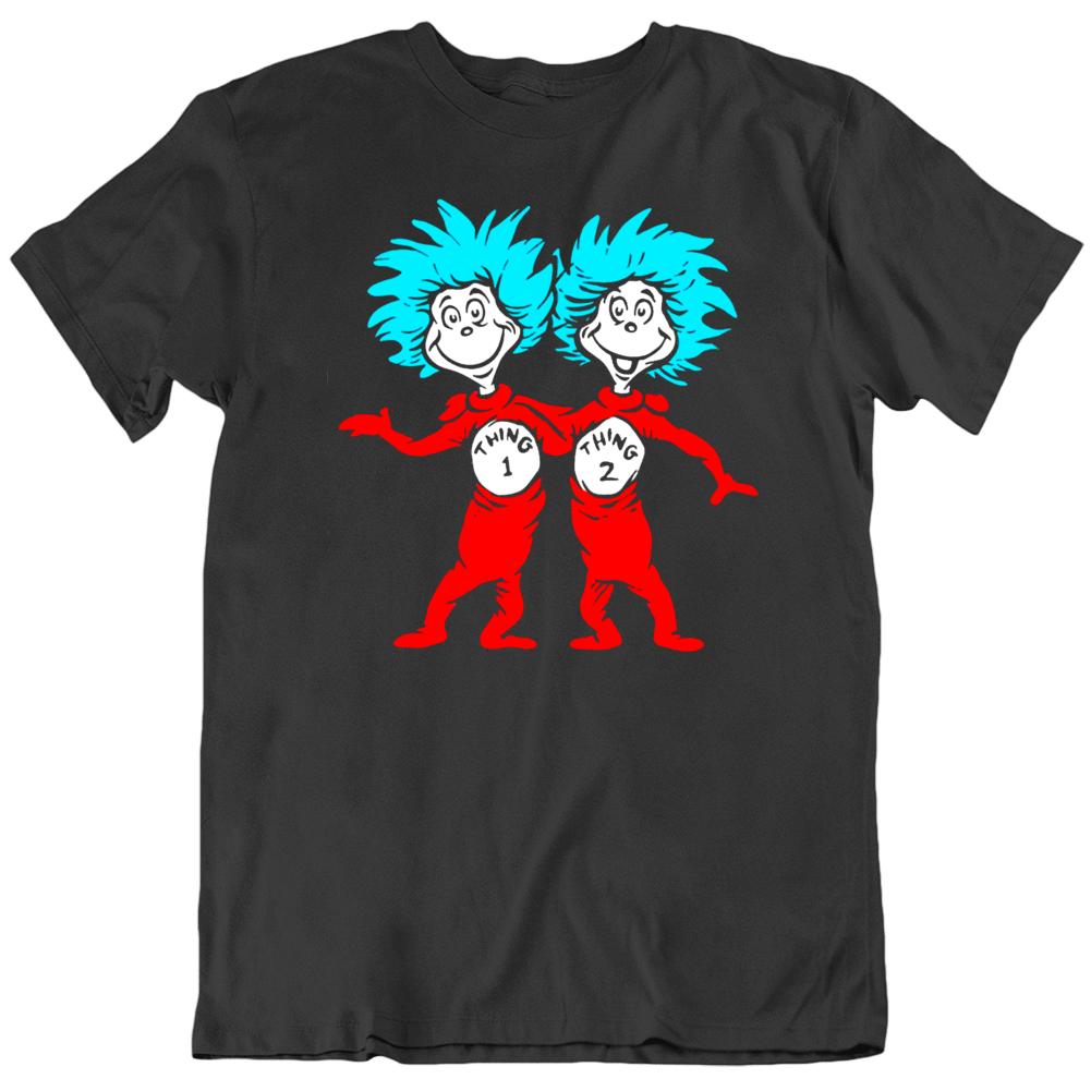 Dr. Seuss Thing 1 Thing 2 Buddies  T Shirt