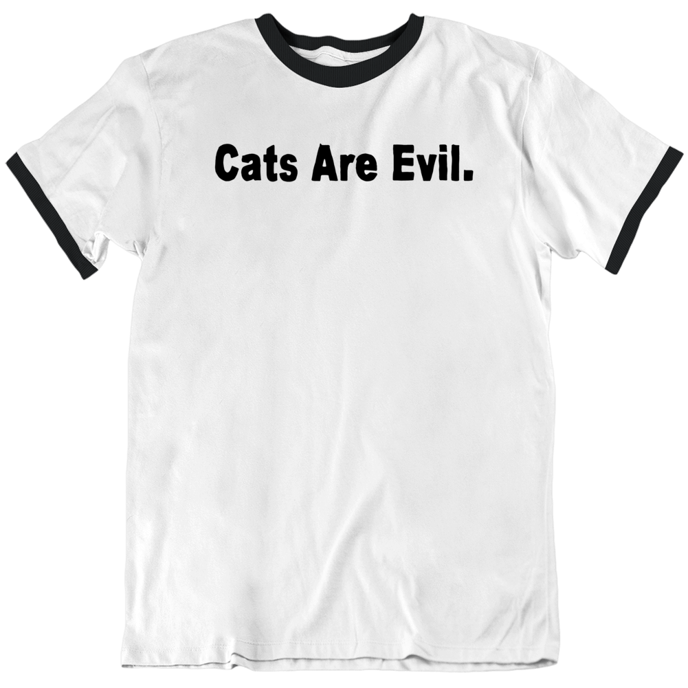 Funny Cats are Evil v2 T Shirt