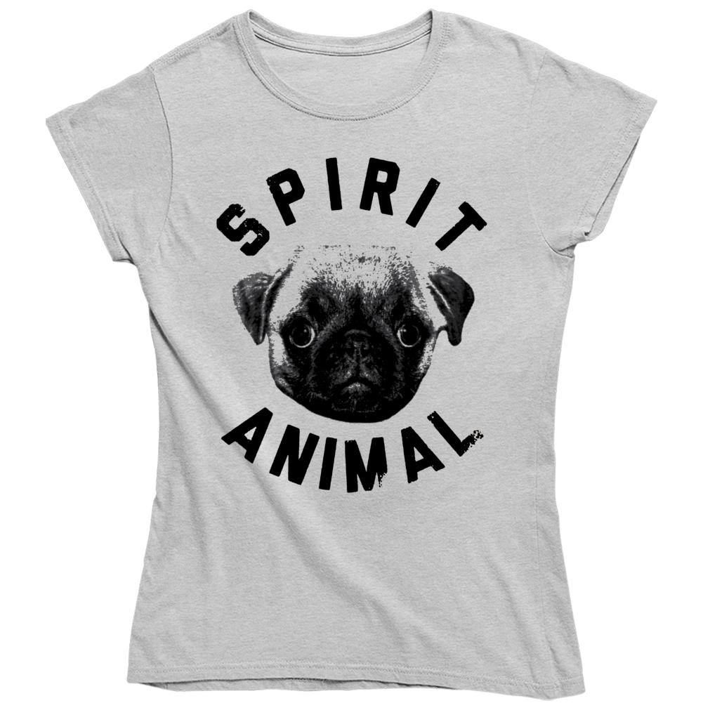 Pug Spirit Animal Dog Lover  Ladies T Shirt