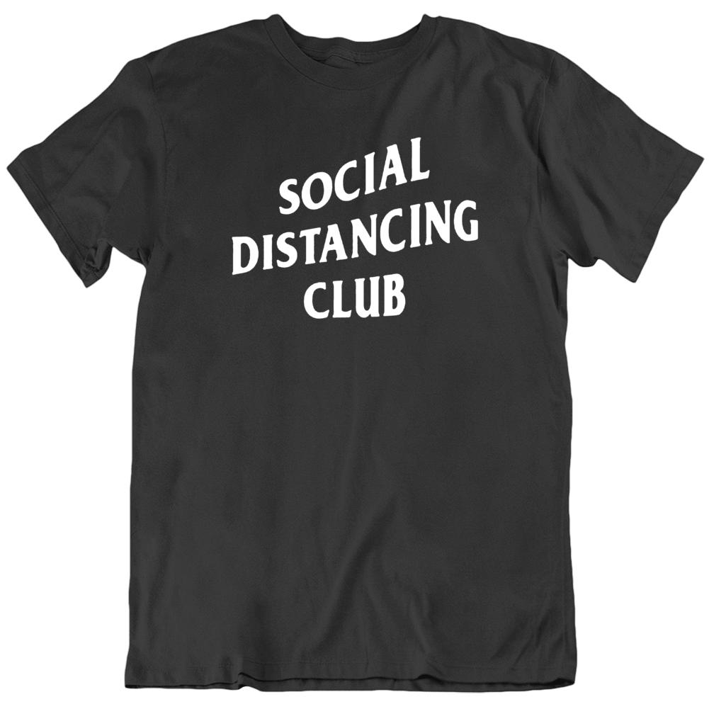 Social Distancing Club Funny Parody  T Shirt