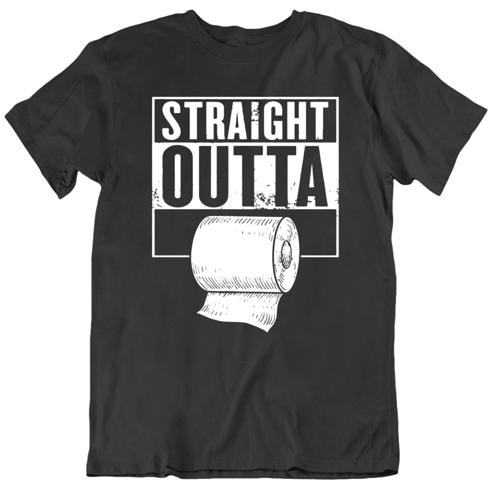 Funny Straight Outta Toilet Paper Compton Parody  T Shirt