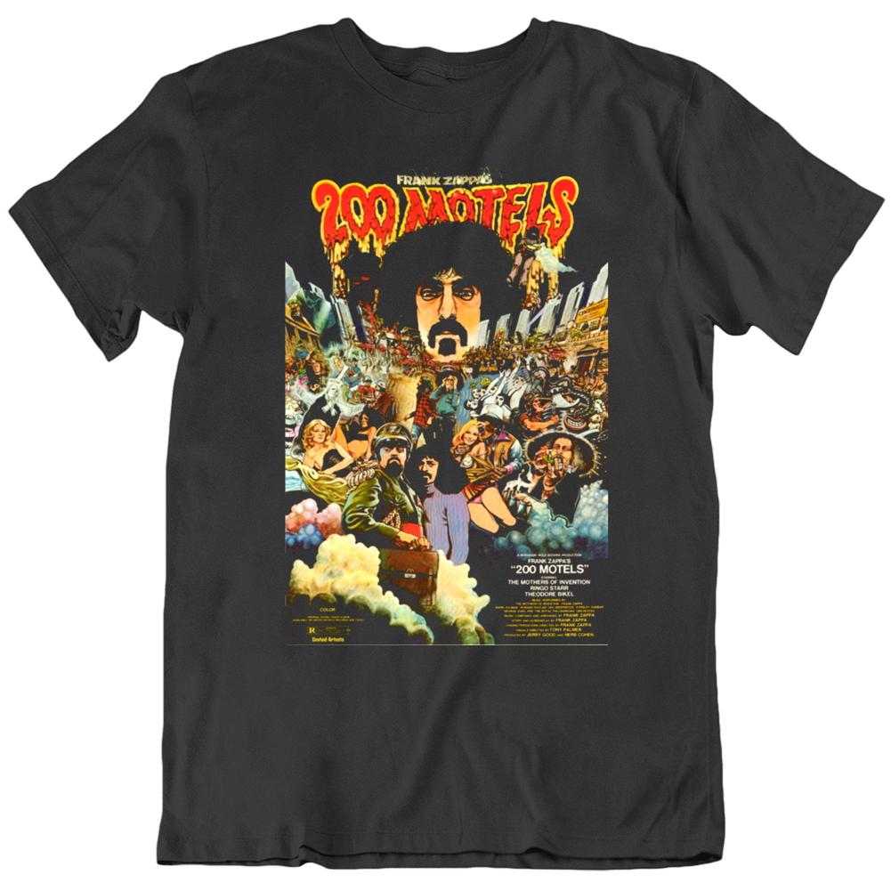 Frank Zappa 200 Motels 1971 Movie Poster Fan T Shirt