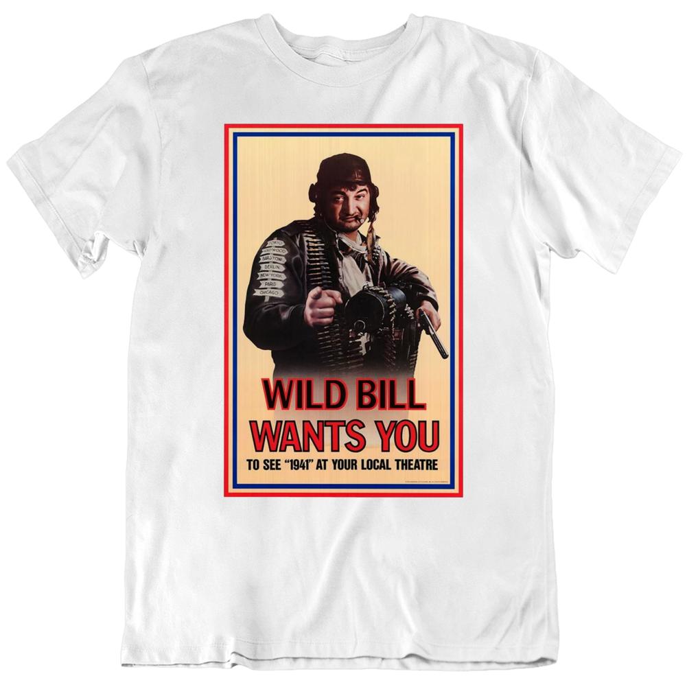 1941 Wild Bill Wants You Movie Poster Fan T Shirt