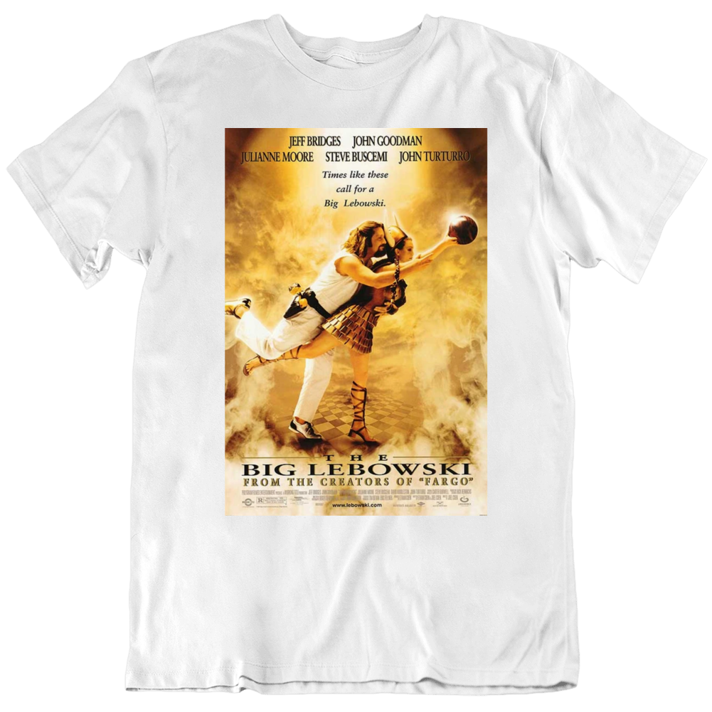 The Big Lebowski 1998  Movie Poster Fan T Shirt