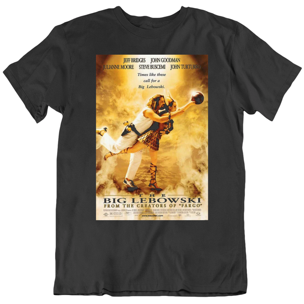 The Big Lebowski 1998  Movie Poster Fan Black T Shirt