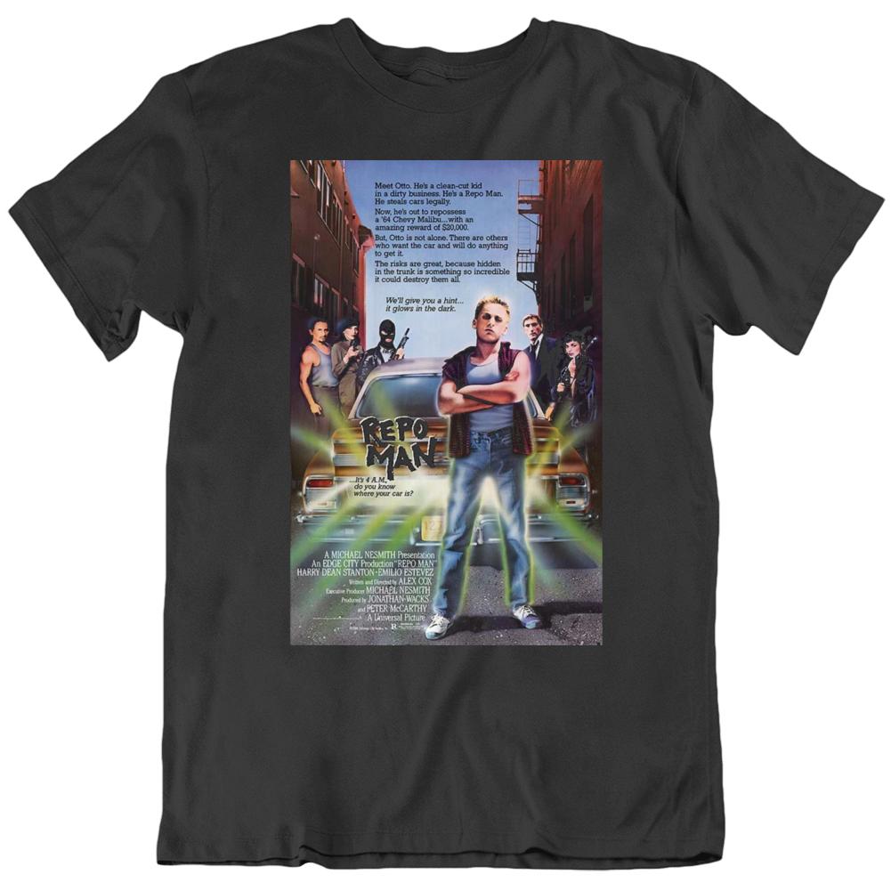 Repo Man 1984 Movie Poster Fan Black T Shirt
