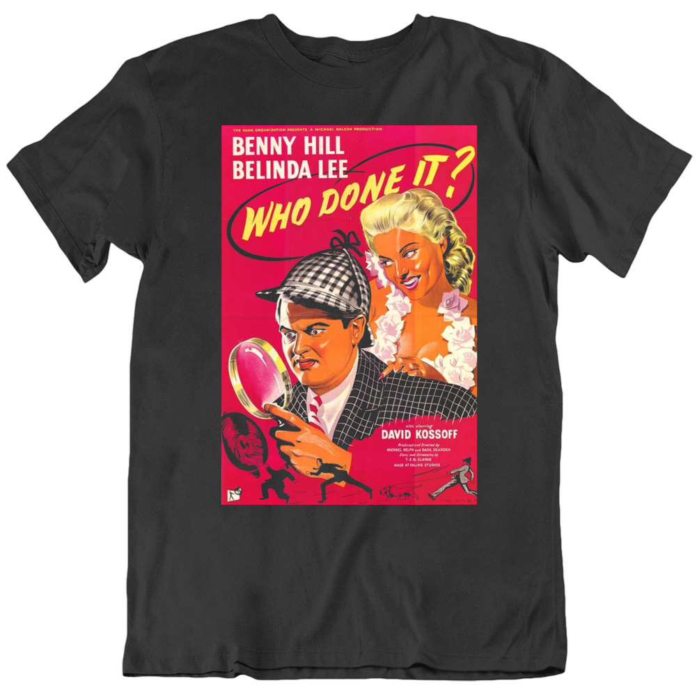 Who Done it 1956 Movie Poster Fan Black T Shirt