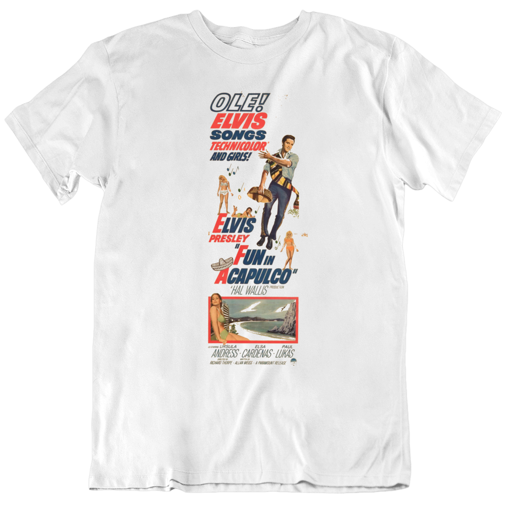 Fun in Acapulco 1963 Movie Poster Fan   T Shirt