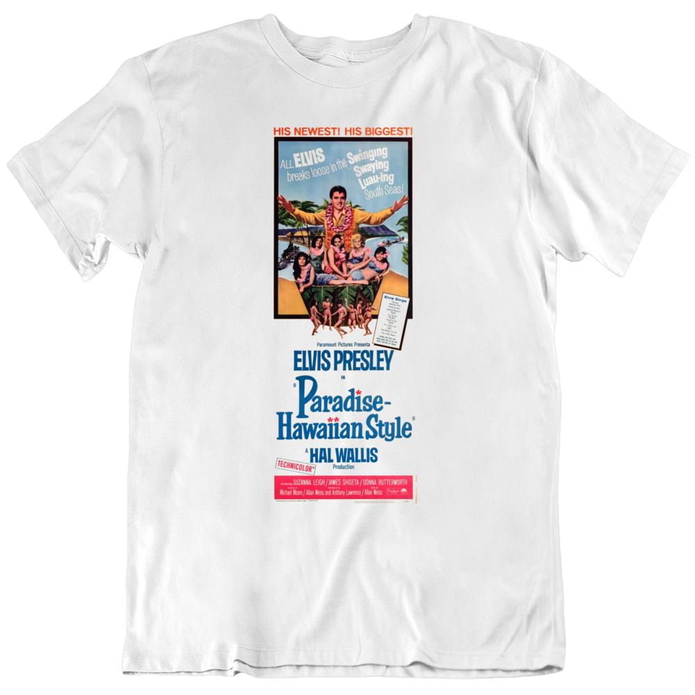 Paradise Hawaiian Style 1966 Movie Poster Fan T Shirt