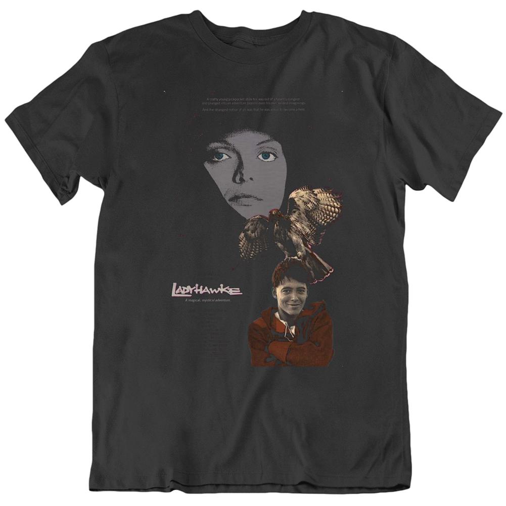 Ladyhawke 1985 Movie Poster Fan Black T Shirt