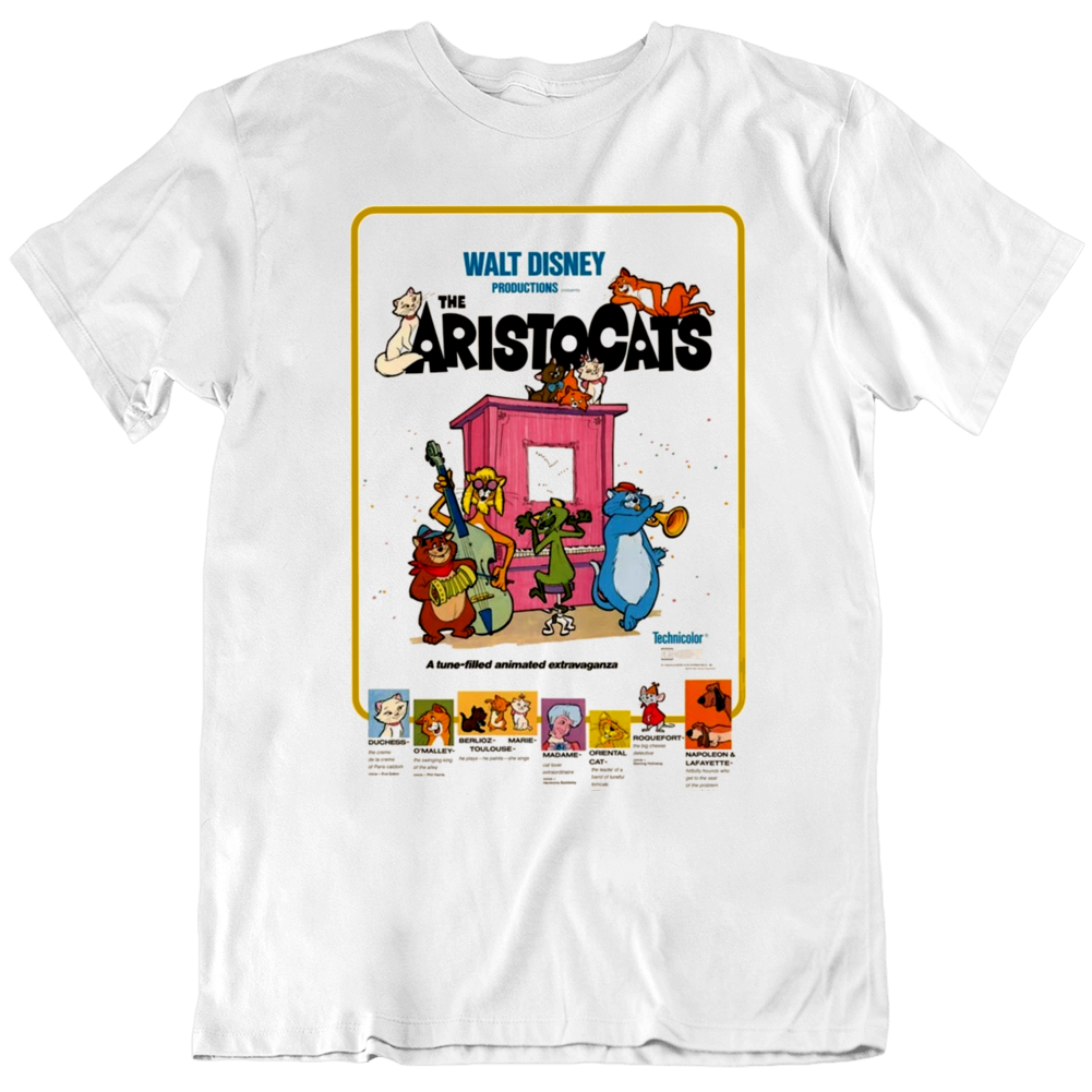 The Aristocats 1980 Movie Fan Poster   T Shirt