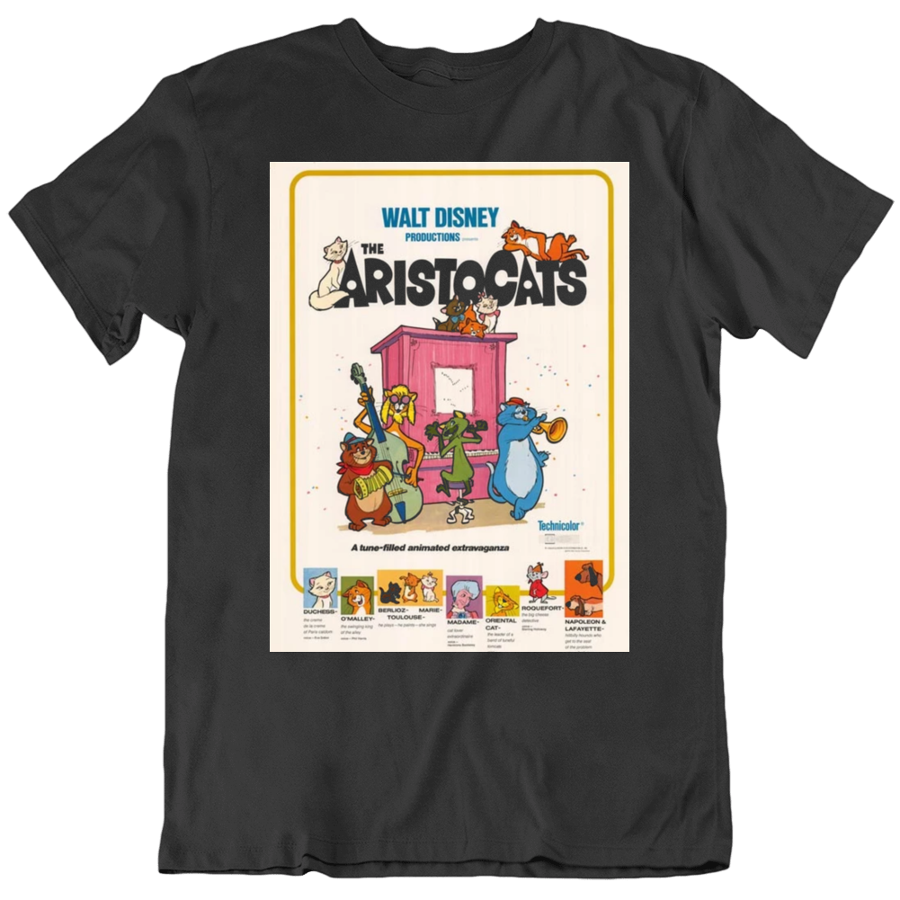 The Aristocats 1980 Movie Fan Poster v2 T Shirt