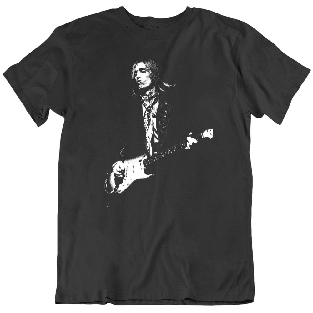 Tom Petty Action Shot Silhouette T Shirt