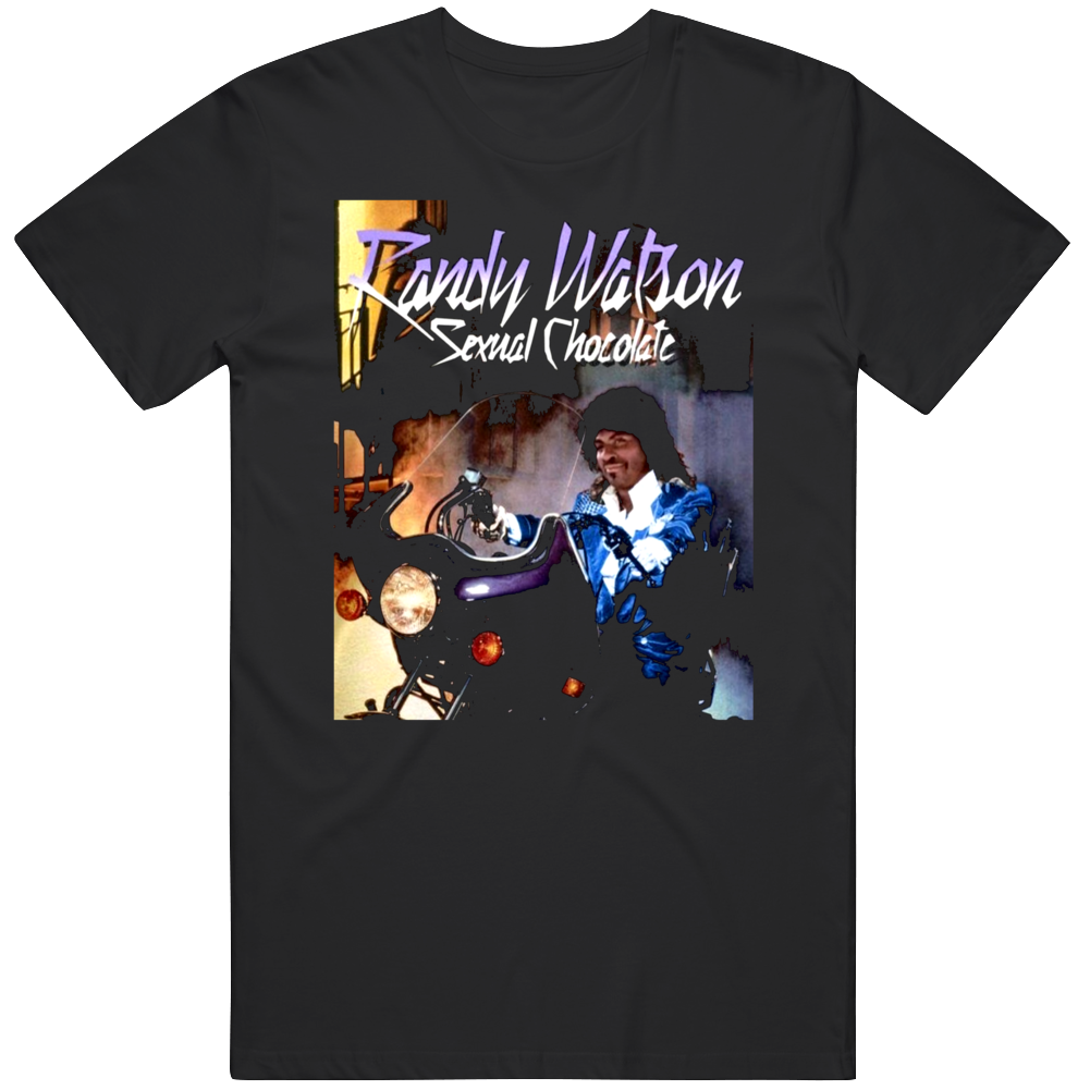 Randy Wilson Sexual Chocolate Coming to America Purple Rain Parody Fan  T Shirt