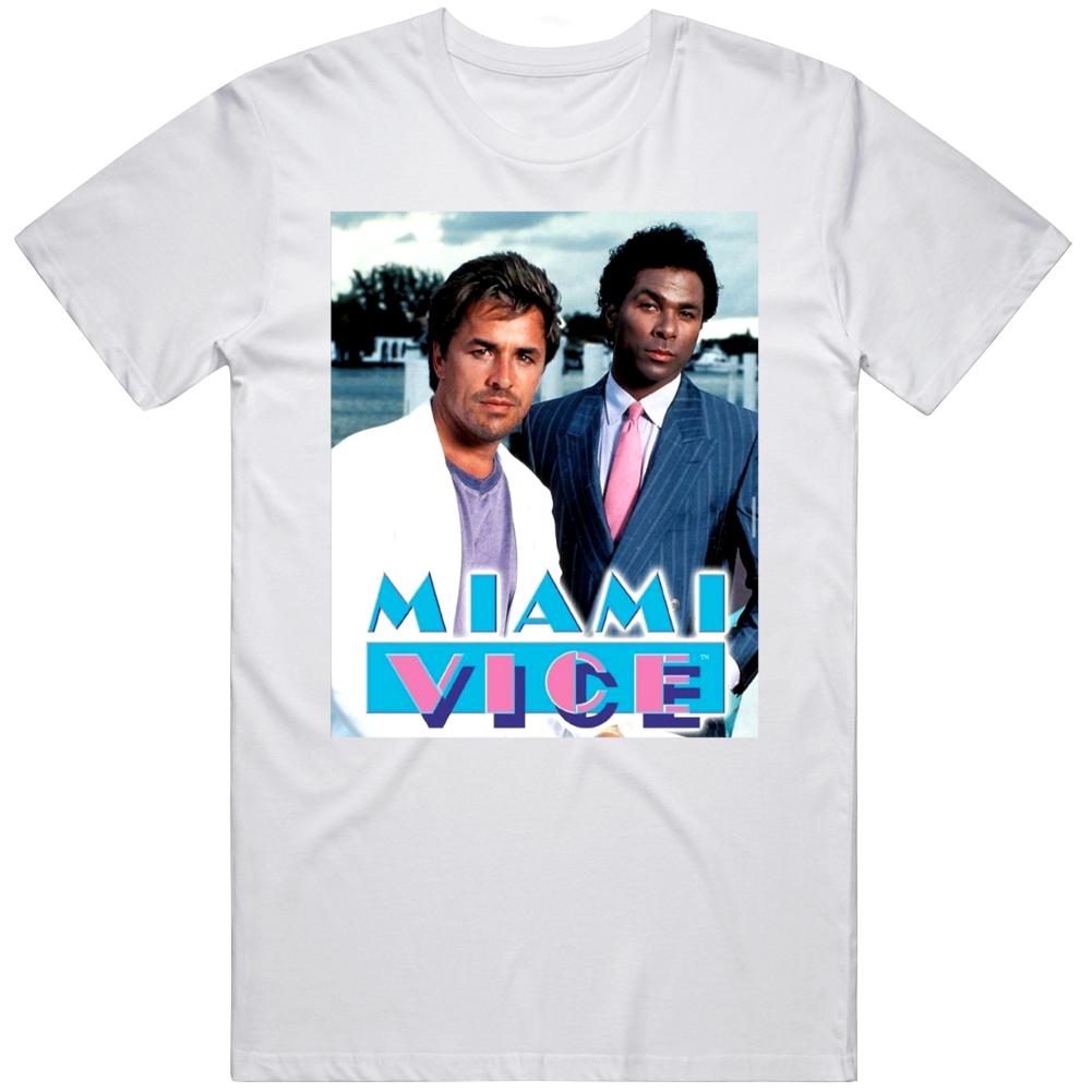 Miami Vice 80s Classic Tv Show Crockett and Tubbs T Shirt