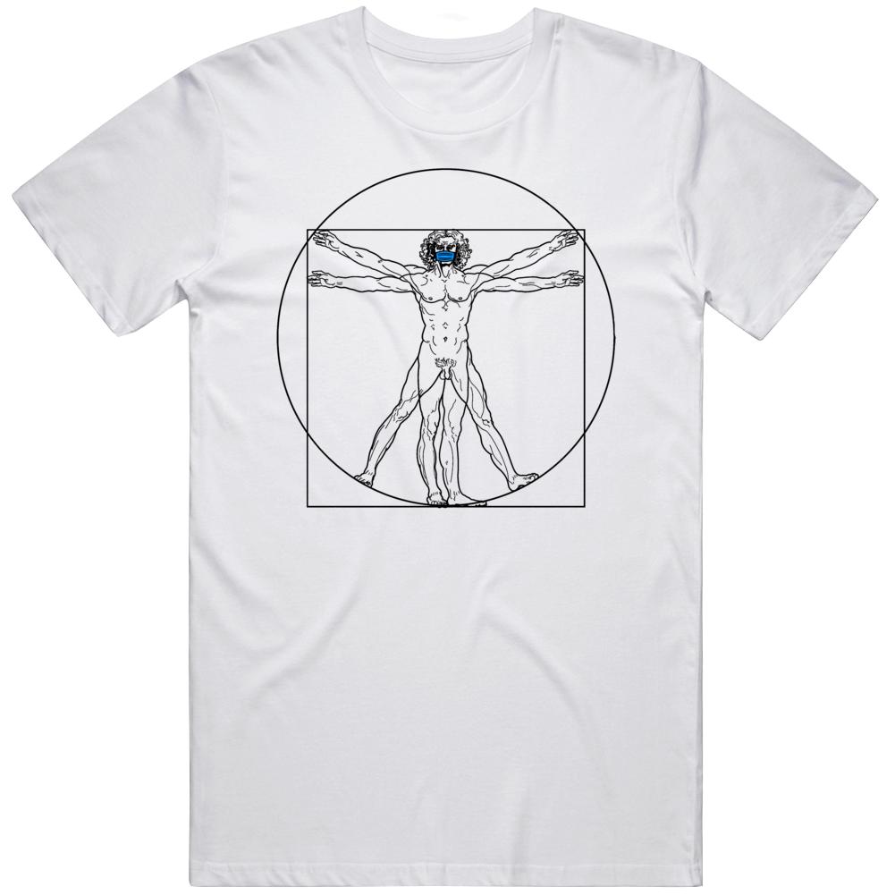 The Viturvian Man Wearing Face Mask  T Shirt