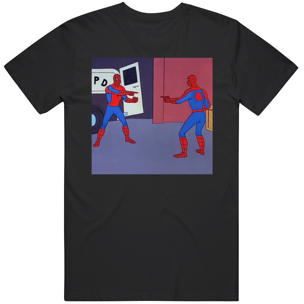 Spiderman Pointing Funny  Meme V2  T Shirt