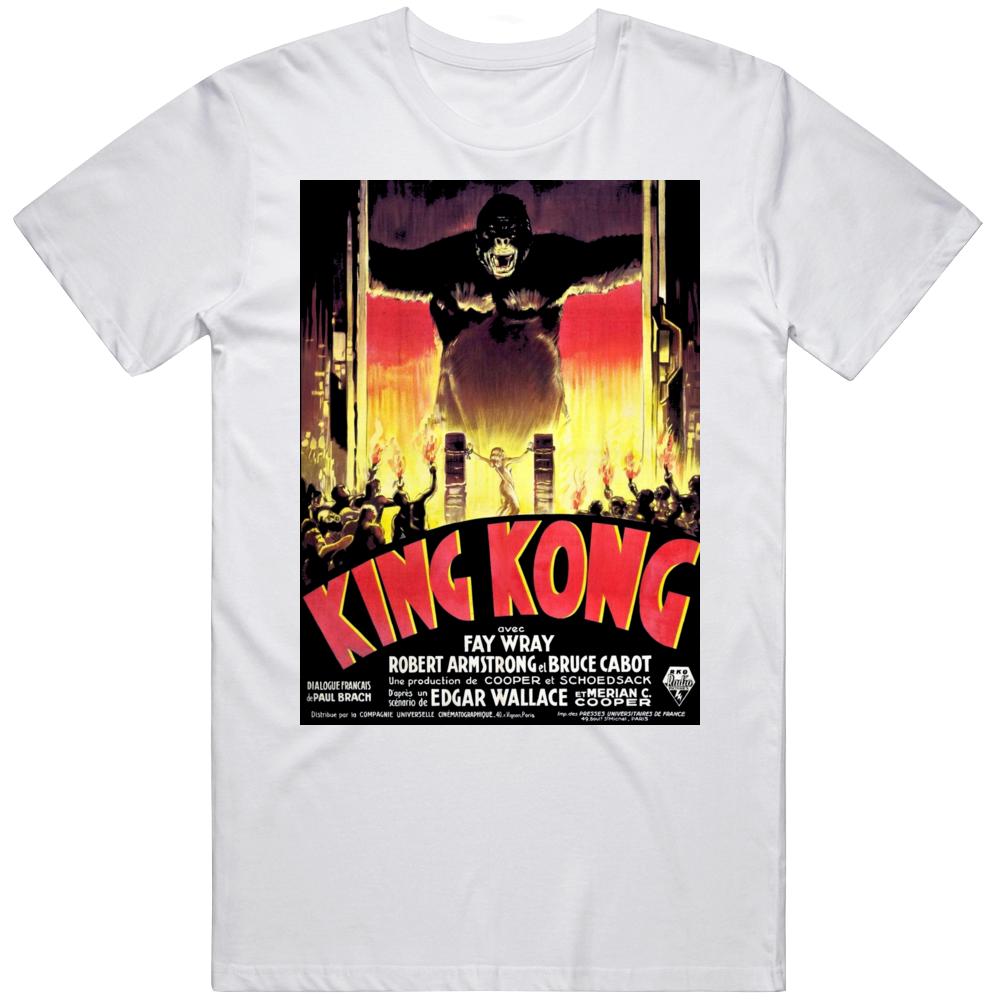 King Kong 1933 Movie Film Fay Wray Reproduction Movie  V2 T Shirt