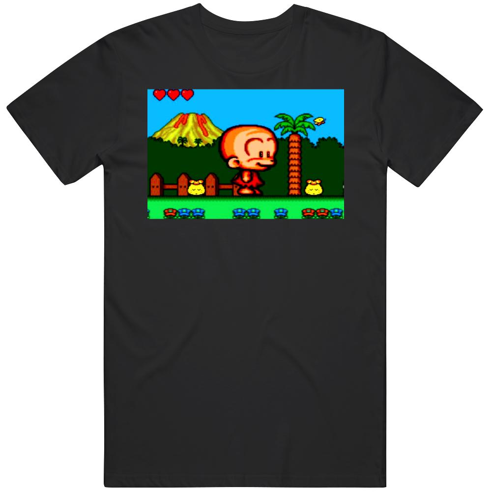 Bonk's Adventure Game Play Video Game Fan  T Shirt
