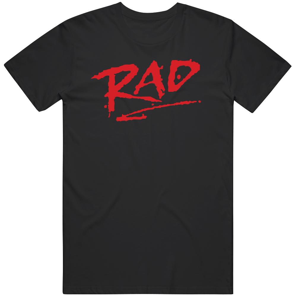 RAD 1980's classic BMX movie  COOL RETRO Cru Jones Biker Fan T Shirt