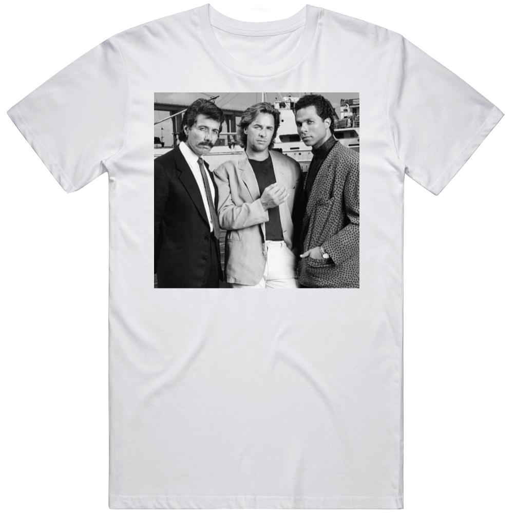 Miami Vice Trinity Crockett Tubbs Castillo Retro TV Show  T Shirt