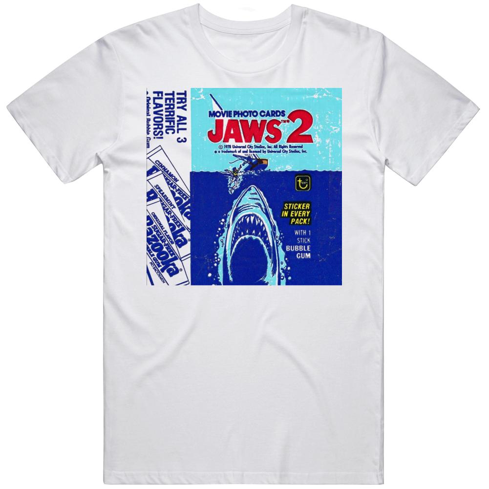 Retro Classic Movie Jaws 2 Wax Pack Cards Gum  T Shirt