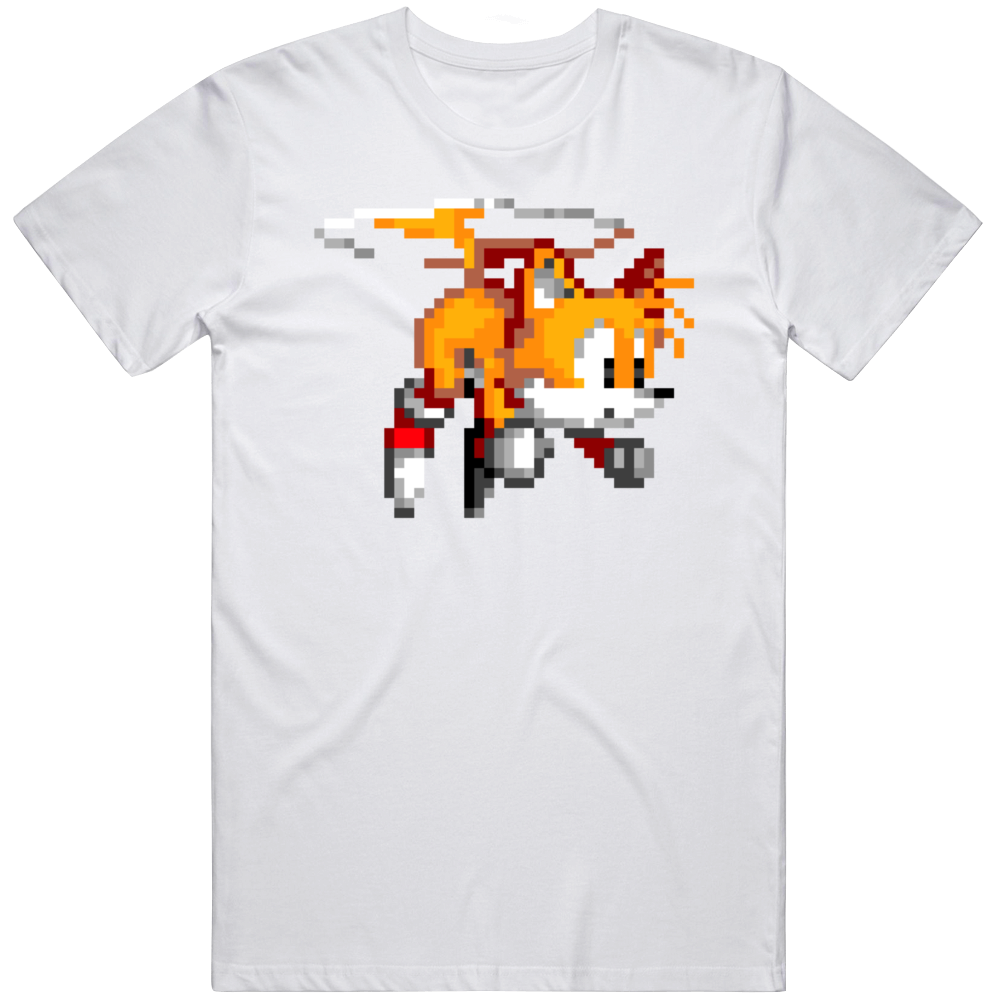 Tails 8 Bit Character Sonic The Hedgehog Video Game Fan T Shirt