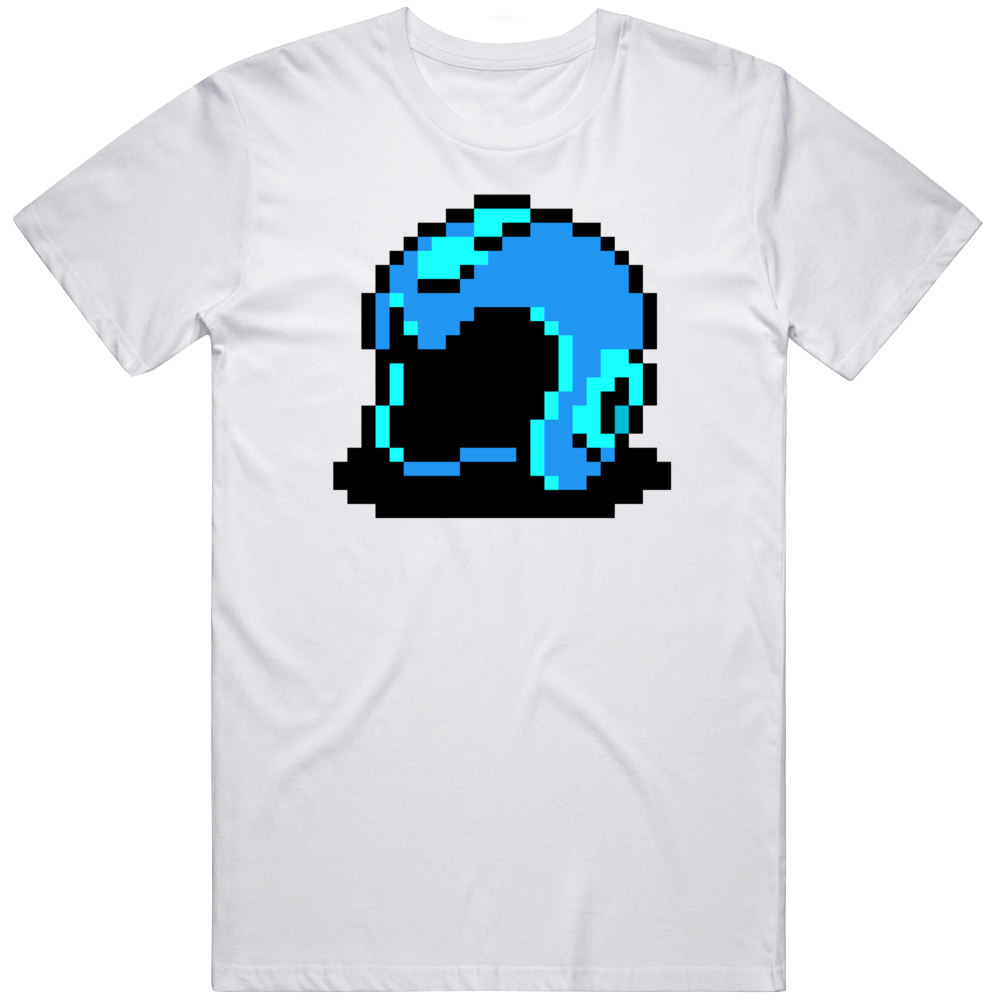 Megaman Helmet 8 Bit Character Retro Video Game Fan T Shirt
