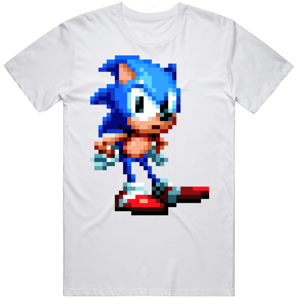 Sonic The Hedgehog Impatient Waiting 8 Bit Character Sonic Retro Video Game Fan  T Shirt