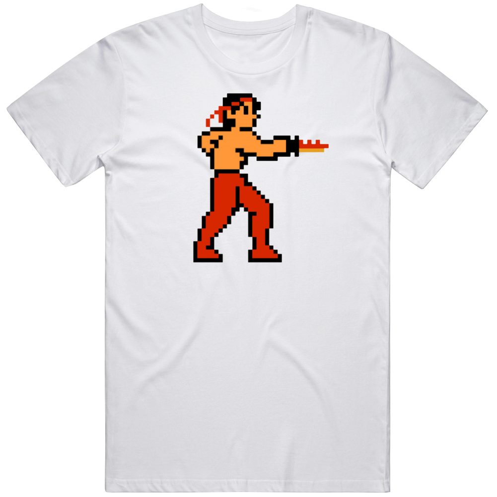 Rambo NES 8 Bit Retro Classic Video Game Fan T Shirt