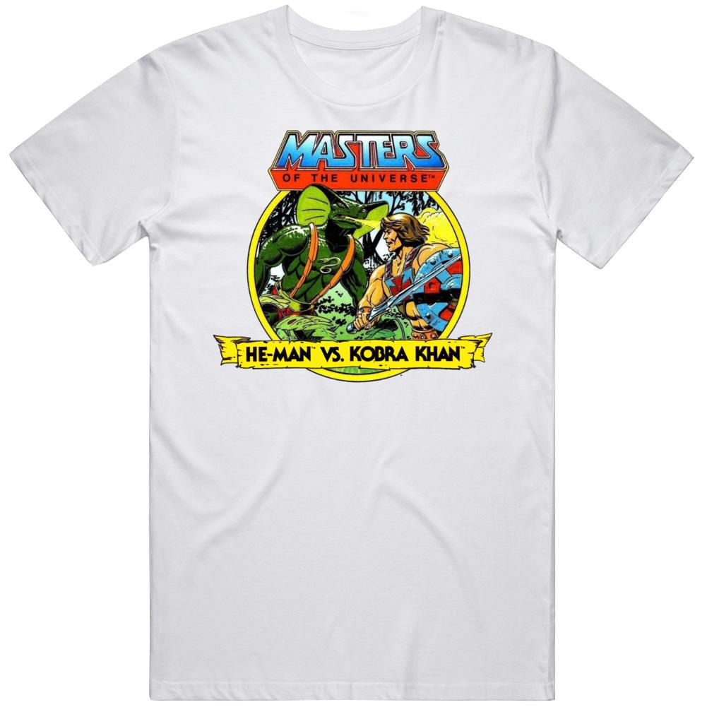 Masters of The Universe He Man and Kobra Khan Retro Cartoon  T Shirt