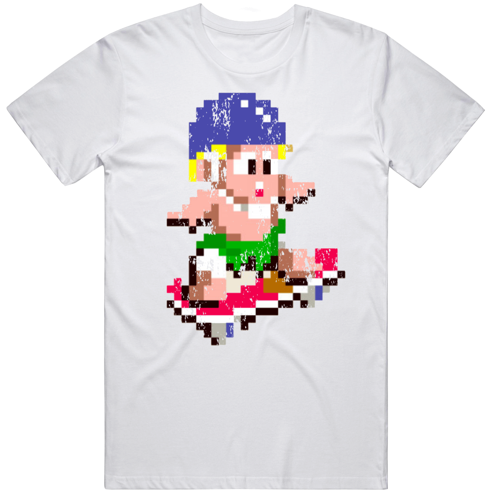 Wonderboy Skateboard Cool Retro Video Game Fan Distressed T Shirt