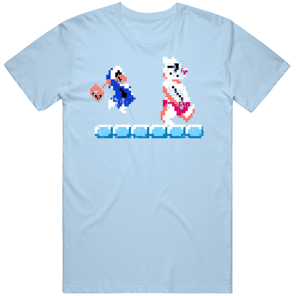 Ice Climber Classic NES Cool Retro Video Game Fan Distressed T Shirt