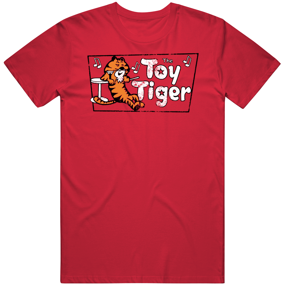 The Toy Tiger Retro Fan Distressed T Shirt