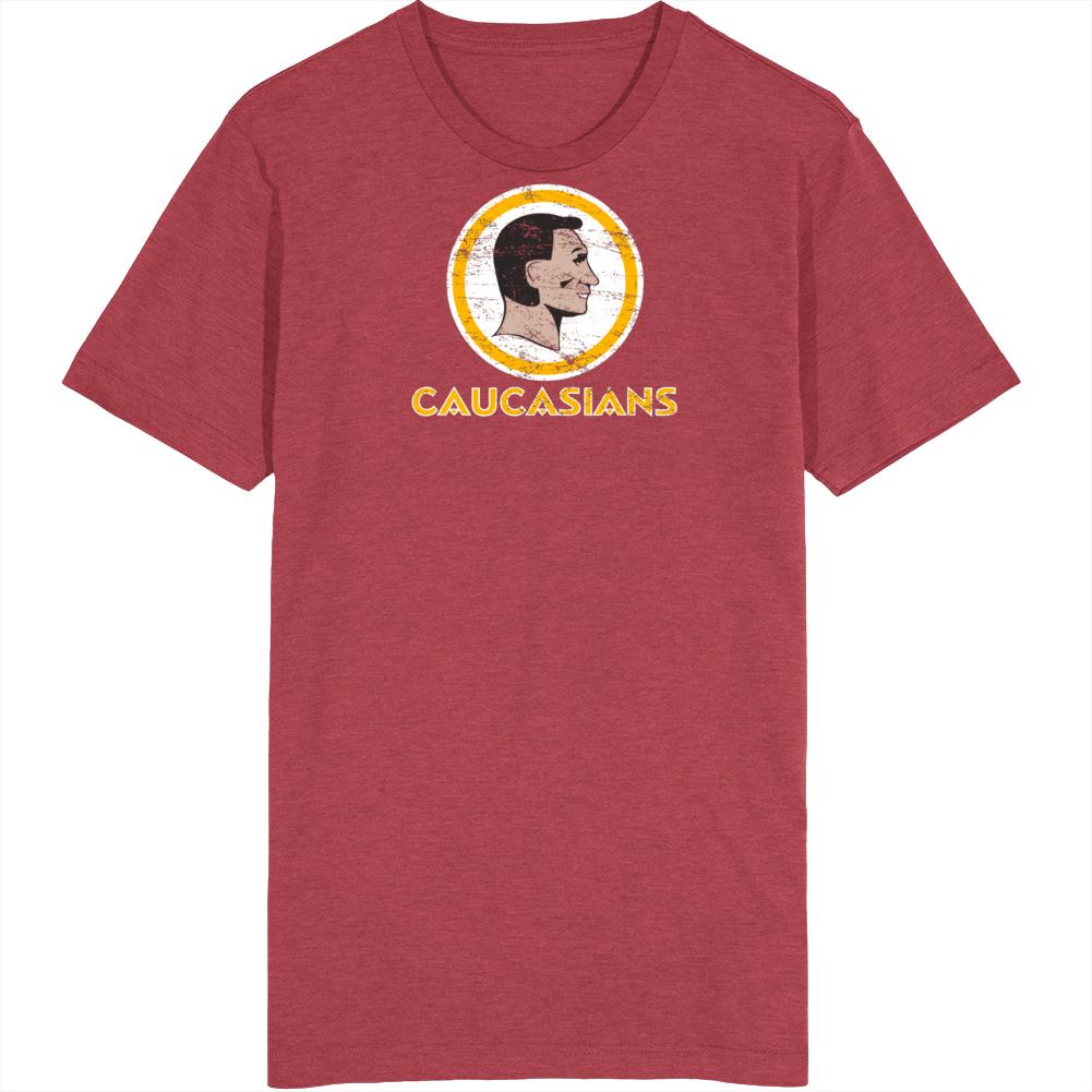 Washington Caucasians Distressed Racial Football T Shirt