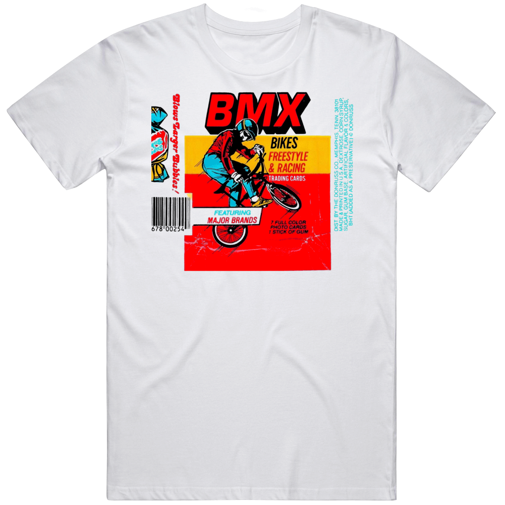 Retro 80's Themes BMX Wax Pack Wrapper Distressed T Shirt