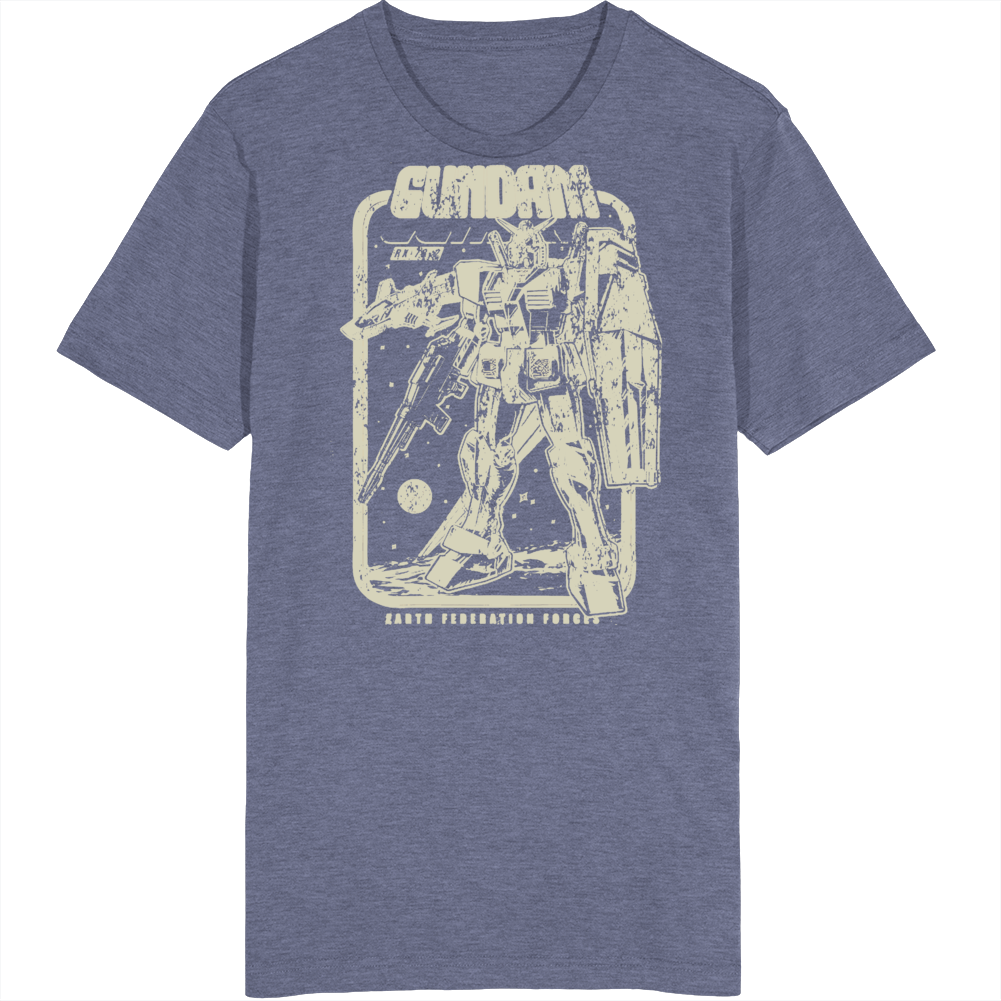 Retro Gundam Anime Manga Fan Distressed v2 T Shirt