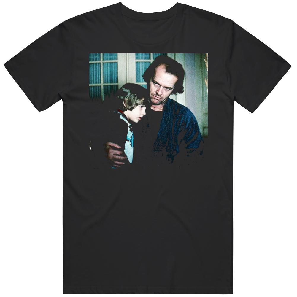 Retro Classic Horror The Shining Jack and Danny Torrance Movie Fan  T Shirt