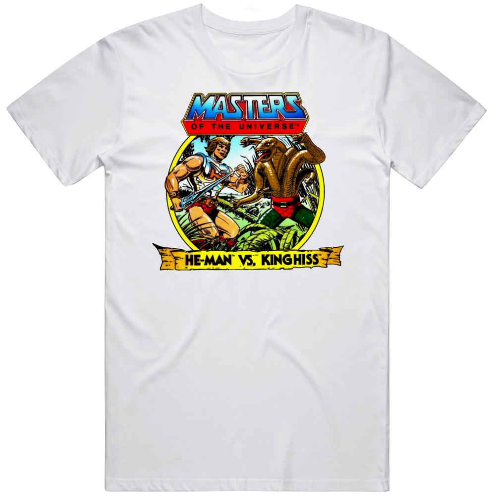 MOTU HE Man Vs King Hiss Retro Classic Cartoon Fan T Shirt