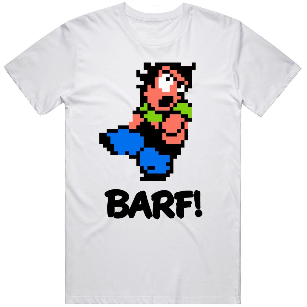River City Ransom Barf Retro NES Video Game Fan T Shirt