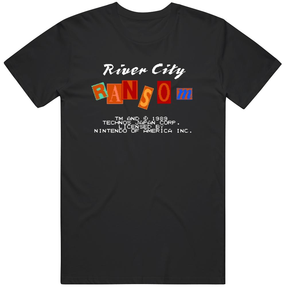 River City Ransom Starting Screen Retro NES Video Game Fan  T Shirt