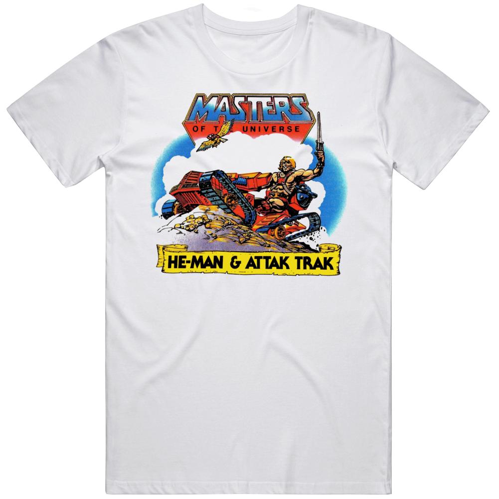 MOTU HeMan and Attak Trak Retro 80s Cartoon Fan  T Shirt