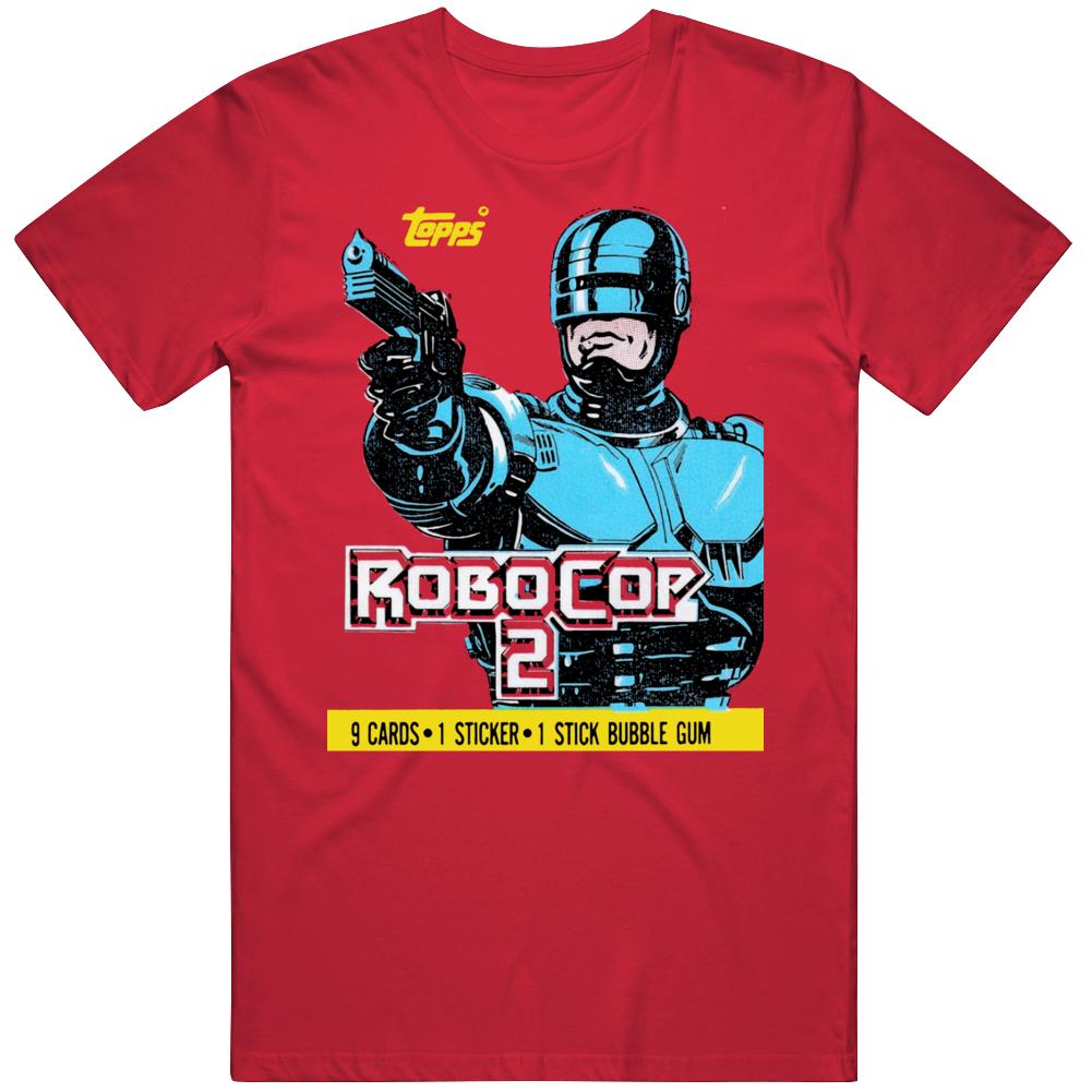 Robocop 2 Wax Pack Retro 90s Movie Fan  T Shirt