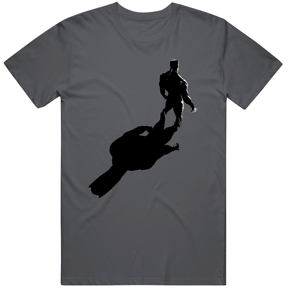 Black Panther T'Challa Chadwick Boseman Silhouette Fan  T Shirt